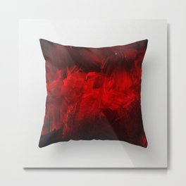 Modern Art - Dark Red Throw Pillow - Jeff Koons Inspired - Postmodernism Metal Print