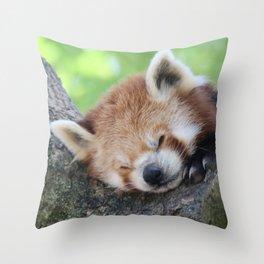 Red_Panda_20150705_by_JAMFoto Throw Pillow