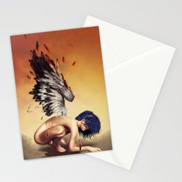 Fallen angel Stationery Cards