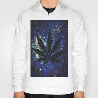 marijuana Hoodies featuring Marijuana Galaxy by Megan Mayhem 17