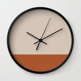 Minimalist Solid Color Block 1 in Putty and Clay Wall Clock