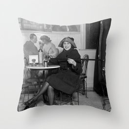 Flapper with Hidden Booze Cane - Prohibition - 1922 Throw Pillow