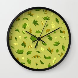 Early Autumn Leaves Wall Clock