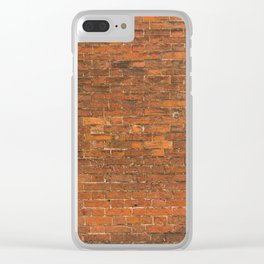 Stone Tile Wall pattern Clear iPhone Case