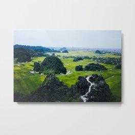 Ninh Binh From Above Metal Print
