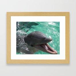 Oh Hai Framed Art Print