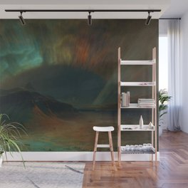 Classical Masterpiece 'Aurora Borealis' by Frederic Edwin Church Wall Mural