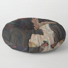 Egon Schiele - The Lyricist Floor Pillow