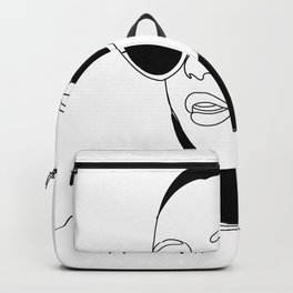 One line portrait.Digital art. Gift ideas,Sexy gift for him. Sexy erotic poster Backpack