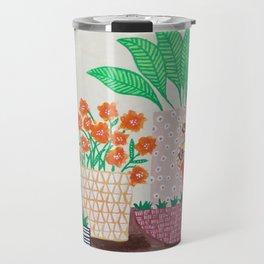Plants in Printed Pots Travel Mug