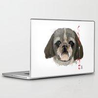 shih tzu Laptop & iPad Skins featuring Shih-Tsu by Det Tidkun