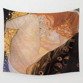 Danae Portrait Painting by Gustav Klimt Wall Tapestry