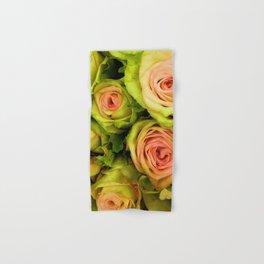 Green & Pink Bouquet Hand & Bath Towel