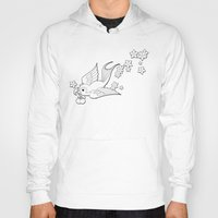 swallow Hoodies featuring Colouring Swallow by Jelly Roger