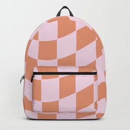 Warped Skater Style Checkerboard Checkered Backpack
