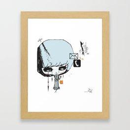 you kill me for XOXO Framed Art Print