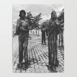Famine Memorial Dublin Poster