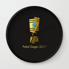 Pokal Sieger 2017 ! - Gold Edition Wall Clock
