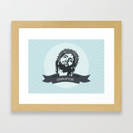 Jesus the Disruptor Framed Art Print
