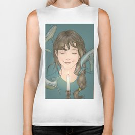 GIRL WITH WHALES Biker Tank