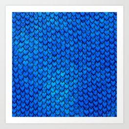 Mermaid Scales - Blue Art Print