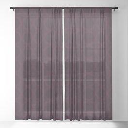 Dark Merlot Wine Circle Pattern Sheer Curtain