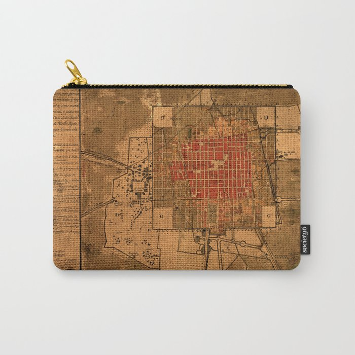 Map Of Mexico City 1794 Carry-All Pouch