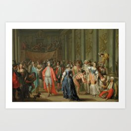 Masquerade Ball (Masked Ball at Venice) FRANZ CHRISTOPH JANNECK Mid-18th century Art Print