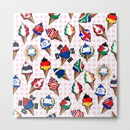 Ice cream flags Metal Print