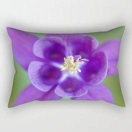 Fluid Nature - Purple Aquilegia Flower Rectangular Pillow