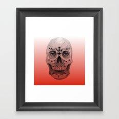 #34 - Christmas Tree Sugar Skull Framed Art Print