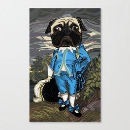 Pug Blueboy Canvas Print