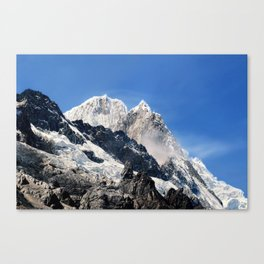 Salkantay Peak, Peru. Canvas Print