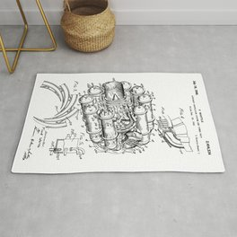 Jet Engine: Frank Whittle Turbojet Engine Patent Rug