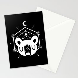 Moon Bear White Stationery Cards