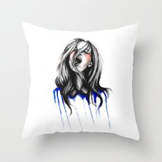 In Our Wildest Moments // Fashion Illustration Throw Pillow