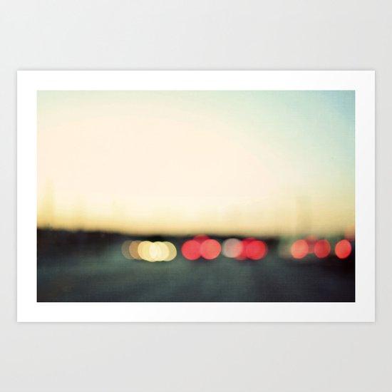 warm summer nights Art Print