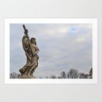 Angel Statue Art Print