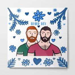 Beard Boy: Couple of Men - Karl & Daan Metal Print