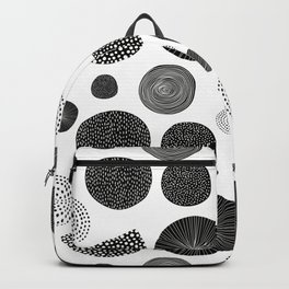 Abstract Black and White Scandinavian Print Backpack