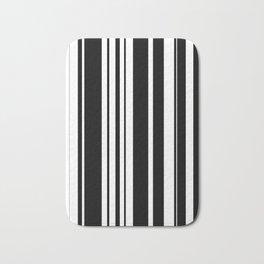 Black and white stripes 2 Bath Mat