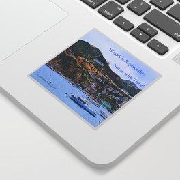 """Catalina Harbor""/ ""Time"" Sticker"