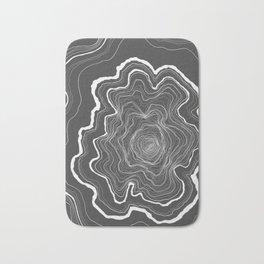 Tree Rings of Grey Bath Mat