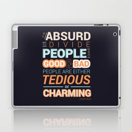 Oscar Wilde Charming Quote Poster Laptop & iPad Skin