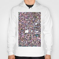 maps Hoodies featuring Funky Maps, SAN FRANCISCO by MehrFarbeimLeben