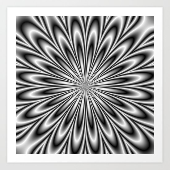 Monochrome Daisy Art Print