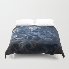 Swirling Blue Clouds of Planet Jupiter from Juno Cam Duvet Cover