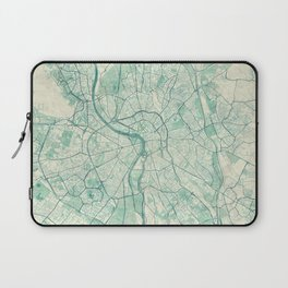 Toulouse Map Blue Vintage Laptop Sleeve