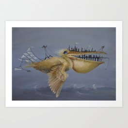 SkyCity Art Print
