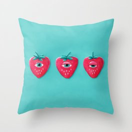 Cry Berry Throw Pillow